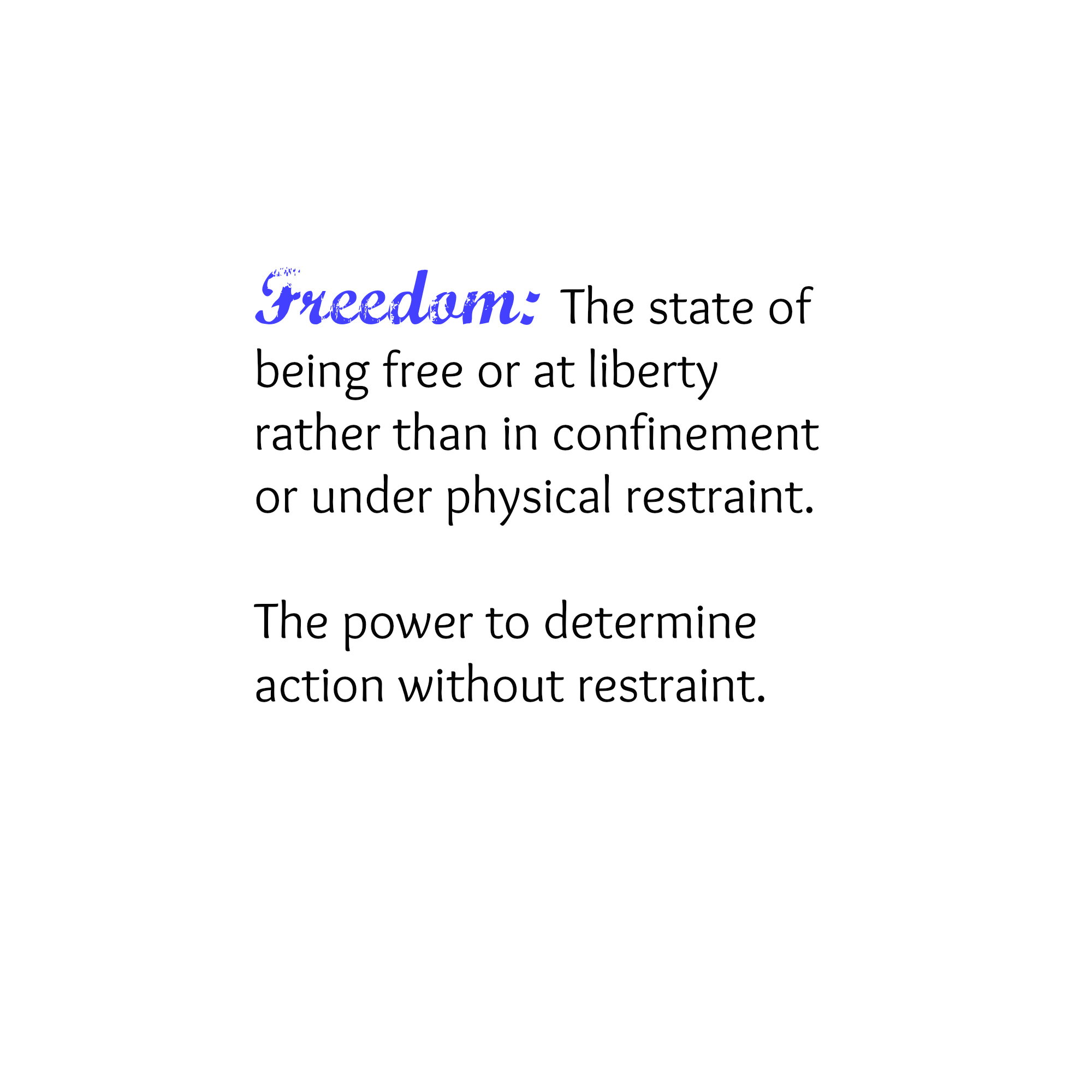 definition and freedom This definition explains the annual report on internet freedom in countries around  the world, explaining what is measured and how and summarizing current.